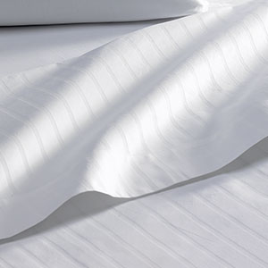 Flat Sheet - White Stripe